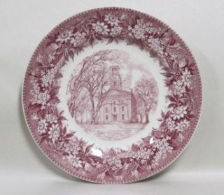 Wedgwood Marietta College Erwin Hall Red Pink Transfer Ware