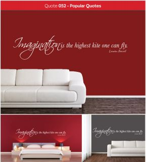 Lauren Bacall Imagination Is The Highest Kite Quote   Vinyl Wall Art