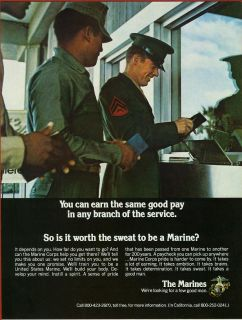 1975 U s Marine Corps Recruiting Ad Uncommon from Baseball Program