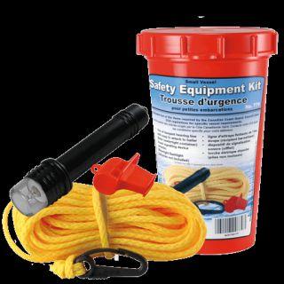 Boat Marine Small Vessel Safety Equipment Kit Line Bailer Whistle