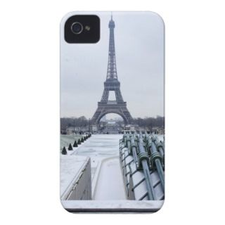 Eiffel tower in winter 3 Case Mate iPhone 4 cases