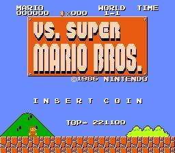SUPER MARIO BROS. Vs. UNISYSTEM Nintendo Video Arcade game Works Grea