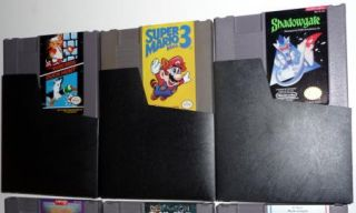 NES Games SUPER MARIO BROS/DUCK HUNT, MARIO 3, SHADOWGATE, VIPER