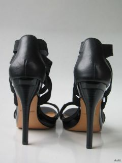 New Mark James by Badgley Mischka Black Strappy Platforms Shoes Heels