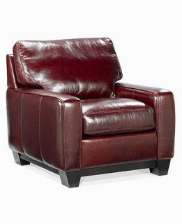 Leather Living Room Chair, 36W x 39D x 35H   furniture