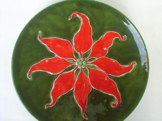 Holland Mold Hester Poinsettias Christmas Deco American Art Pottery