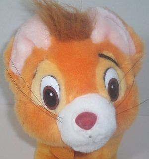 1988 Disney Oliver Company Oliver Orange Plush Cat
