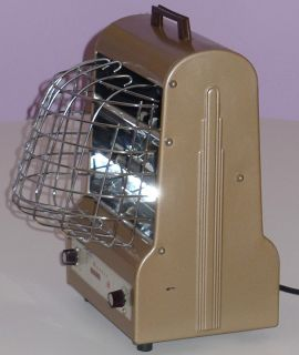 Markel Neo Glo Heetair Vintage Electric Heater Art Deco Style w