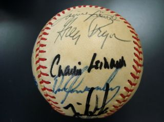 1985 Kansas City Royals Team Signed World Series Baseball