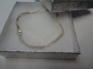 Sterling Silver Triple Strand Necklace Mark XS 18 inches Long