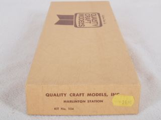 Quality Craft Models 104 HO Marlinton Station Building Kit