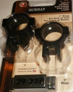 Thompson Center T C Gorilla Universal Black Power Scope Rings Base New