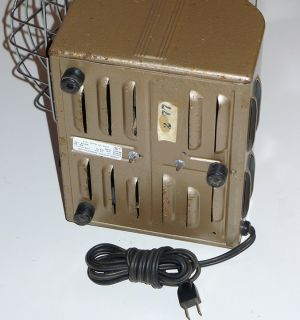 Markel Vintage Electric Space Heater Fan Machine Age Deco Style w