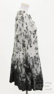 Marni Grey Black Watercolor Cotton Shirt Dress Size 40