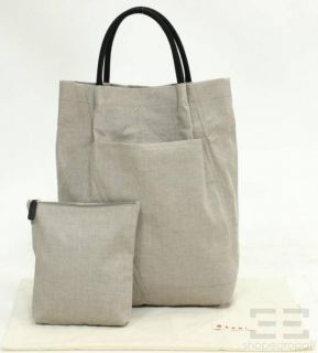 Marni Beige Canvas Large Shopper Tote Bag Summer Edition 2011