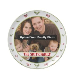 Personalized Photo Christmas Plate