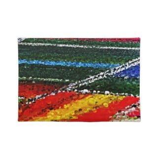 Colorful Flowers Field Painting Placemats
