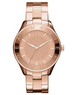 Armani Exchange Watch, Womens Rose Gold Ion Plated Stainless