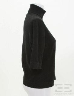 Marlowe Black Cashmere 3 4 Sleeve Turtleneck Sweater Size Medium