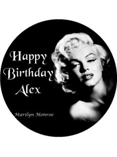 Personalised Marilyn Monroe Edible Icing Cake Top Topper New Free
