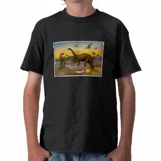 Dinosaur Pterodactyl / Brontosaurus Landscape Tees
