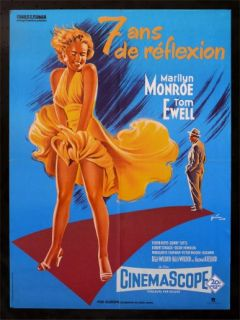 Seven 7 Year Itch French Movie Poster Marilyn Monroe