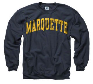 Marquette Golden Eagles Navy Arch Crewneck Sweatshirt