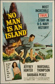 No Man Is An Island 1962 Original U s One Sheet Movie Poster