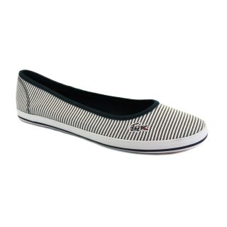 Lacoste Marthe 5 Womens Canvas Pumps White Navy