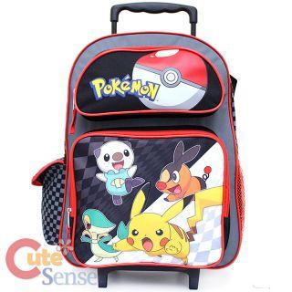 Pokemon Black and White School Large Roller Backpack Book Bag 1