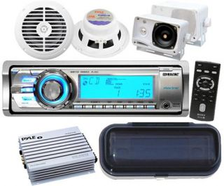 Sony CDXm 60UI Marine Boat MP3 Radio Stereo 4 Speakers & 4 Channel 400