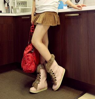 Flat Oxfords Non Slip Winter Women Shoes Short Mid Martin Boots