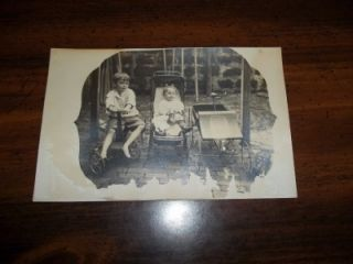 Antique Pedal Car Scooter Martins Ferry Ohio Photo Postcard VG