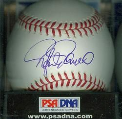 Rafael Palmeiro Signed Autographed Rawlings MLB Baseball PSA DNA 9