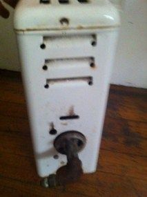 Vintage Antique Porcelain Enamel Gas Space Room Heater