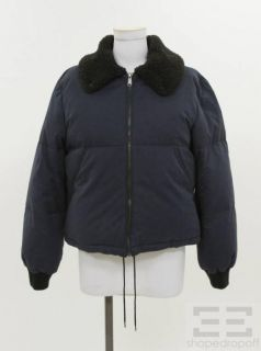 MM6 Martin Margiela Navy Blue GOOSE Feather Puffer Coat Size 42