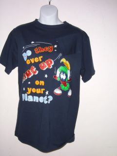 Marvin Martian Shut Up T Shirt Navy Pic s M or L