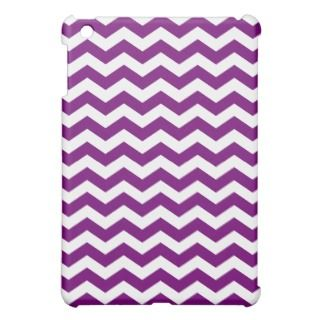Purple Chevron Stripes iPad Mini Case
