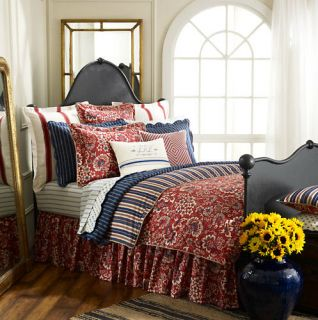Ralph Lauren Villa Martine Red Blue Full Queen Comforter