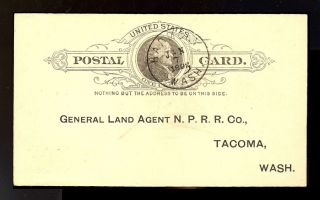 Washington State Postal History Lewis County 1892 Harmony DPO3