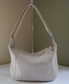 278 Michael Kors Crosby Medium Shoulder Bag Vanilla