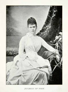 1894 Print Queen Mary Teck Duchess York England Consort Empress India