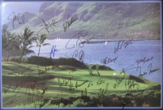 Goals Golf Poster Signed by 29 PGA Stars Tiger Woods ELS Mickelson