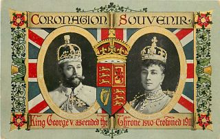 CORONATION SOUVENIR KING GEORGE V & MARY OF TECK CIRCA 1911 K18187