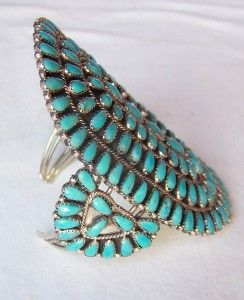 Immense Navajo Larry Moses Begay Sterling Sleeping Beauty Turquoise