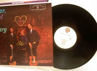 Peter Paul and Mary Hand Signed Autographed on Their Debut Album