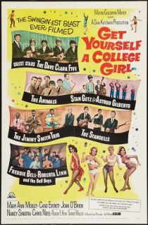 Yourself a College Girl One Sheet Movie Poster Mary Ann Mobley 1964