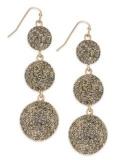 INC International Concepts Earrings, Gold Tone Glass Stone Teardrop