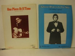 Johnny Cash Sheet Music Lot 1982 Ghost Riders in The Sky 76 One Piece