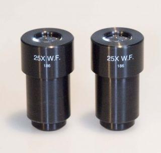 AO American Optical 25x Microscope Eyepieces New
